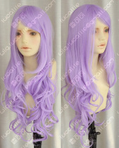 ZYR God daiyi shuidian curly hair lengthened bangs light purple Loli royal sister cosplay Wig