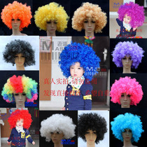 Childrens Day Wig clown wig hooded color wig prop explosion head wig explosion hooded fake hair jacket