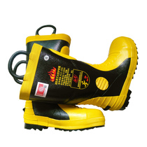 02 3C certification fire boots fire fighting boots special fire fighting boots protective boots fire rubber boots at the bottom with steel