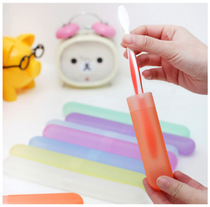Portable toothbrush box travel portable box toothbrush sets toiletries breathable dust-proof toothbrush box tube set