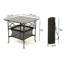 Outdoor folding tables and chairs stall table portable aluminum alloy table camping meal beach camping promotion table training table