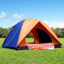 3-4 people tent outdoor double 2 people single outdoor camping camping tent family two room a Hall package