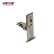 VEXG Stainless steel access switch with indicator light often open 5 line dc12v access door button narrow body