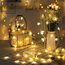 Star lantern lighting net red decoration small room transformation ins night light flashing string string lights starry string
