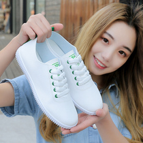 Small white shoes 2019 summer models with skirt new summer breathable shoes female summer tide shoes wild shoes flat shoes