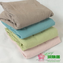 Elegant home spinning low-clearing bedding cotton polyester single hand 100 * 200 * 25 solid color