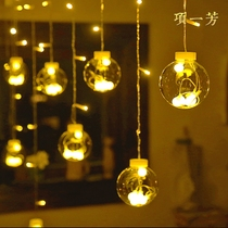 Wishing ball lights string red layout decorative lights curtains hanging lights romantic room bedroom small lights flashing lights string lights