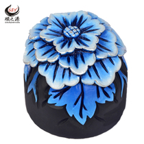 Activated carbon carved high-grade hibiscus car ornaments Bao ping car interior decoration car ornaments carbon carving supplies car ornaments