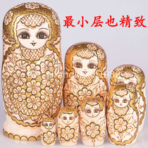 Professional doll shop no formaldehyde flavor imported Alpine Basswood matryoshka 7 layer 0712