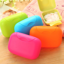 Fashion Creative plastic lock hand travel soap Box Mini will carry cover sealed soap box travel business trip