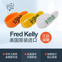 Guitar square Fred Kelly Dillin yellow smooth finger playing thumb guitar finger set Bumblebee finger sleeve.