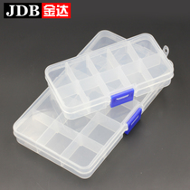 Jin da transparent storage box plastic jewelry small storage box with cover storage box jewelry lattice box
