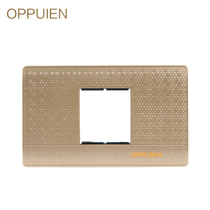 Op brand Champagne Gold 118 a blank panel with switch socket TV computer function key module