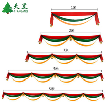 Christmas decorations wave flag ribbon hanging flag pull the flag Mall Hotel Holiday Decoration scene layout supplies