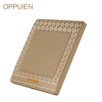 Op brand Champagne Gold 86 universal C38 blank cover wall power switch socket panel home decoration
