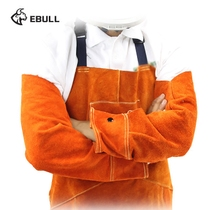 Ebull cowhide welding Cuff sleeve welding flame retardant fire insulation welder arm sleeve thickening labor protection