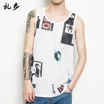 Summer GD Zhilong with breathable mesh vest Tide mens basketball quick-drying thin section sleeveless hurdle T-shirt