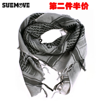 Su moving Arabia square men and women tactical cotton scarf anti-haze mask mask large shawl scarf