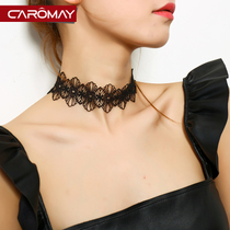 Korean lace flower choker necklace female clavicle chain short paragraph simple hundred with ornaments neck jewelry necklace necklace