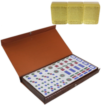 Gift Crystal cheese Card 8 points competition with Southeast Asia mahjong 3 layer Crystal children mahjong