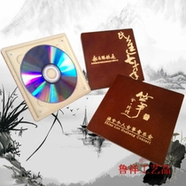 Custom wooden CD disc box software dog box U Shield box custom LOGO Gravure taille impression à chaud DIY design
