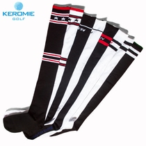 Golf socks knee warm breathable female stockings casual socks socks high tube cotton socks striped sports socks