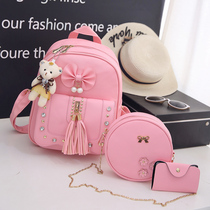 Childrens fashion shoulder bag 2018 new Korean version of the trendy cute girl kindergarten bag pupils travel backpack