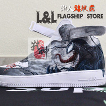LL influx of people creative hand painted Air Force One AJ1 private custom ukiyo e DIY color graffiti customers provide shoes