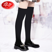 Langsha socks ladies stockings over the knee spring and autumn Japanese street tide ins leg socks autumn and winter women long cotton socks