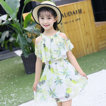 Children's clothing girls strap dress summer 2019 new Korean version of the little girl children's chiffon princess skirt