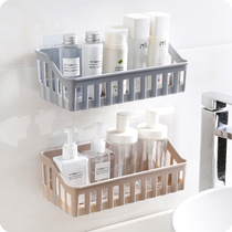 Creative free punch bathroom shelf kitchen plastic wall wall toilet toilet debris storage rack