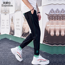 British jazz Tide brand summer casual sports pants Korean men hit color beam pants students trend street nine pants