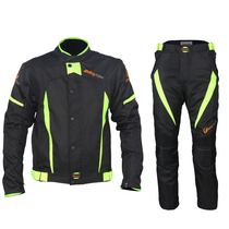 Motorcycle riding suit mens suit four seasons waterproof motorcycle shatter-proof suit rain racing rally suits Knight pants warm