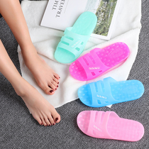 Summer Crystal transparent plastic sandals female jelly shoes flat bathroom bath indoor home soft non-slip slippers