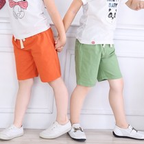 Kindergarten loose new childrens shorts childrens knee summer pants men and women casual pants thin section black