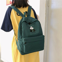 Waterproof nylon fabric backpack female cute panda large capacity outdoor backpack high school campus student bag