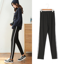 Sports pants female 2019 spring and autumn new Korean loose high waist harem pants students casual wild feet long pants