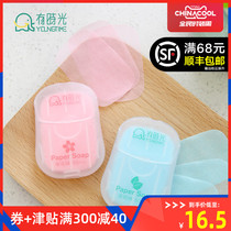 Sometimes light travel soap tablets portable disposable soap paper Student Children Travel mini wash tablets