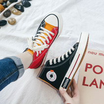 2019 spring new high-top canvas shoes female students wild Korean Harajuku ulzzang Hong Kong wind board shoes ins tide