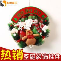 Christmas decoration supplies Christmas snowman elderly elk rattlesnake Garland Vine ring Christmas tree pendant door hanging scene