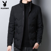 Playboy down jacket mens short jacket 2019 new winter Korean version of casual mens thickened down jacket