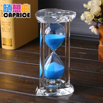 Crystal hourglass timer quicksand bottle 30 60 Minutes creative small ornaments home accessories wine cabinet birthday gift