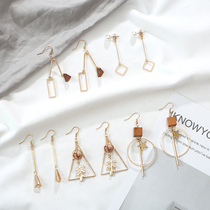 Week set earrings female design earrings small public will move the net red autumn and winter long section simple temperament earrings