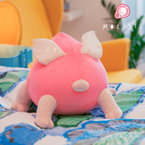 Original design (Molisii Jasmine) pastoral running - pig peach escent pig holding pillow cushion gift