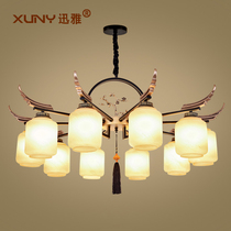 New Chinese chandelier light luxury restaurant Villa chandelier Chinese style simple modern atmosphere creative living room lamps