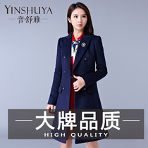 50d3b896bf Sound Shu ya professional woolen jacket female long section Korean version  2017 new autumn and winter