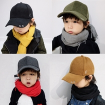 Childrens hat male tide autumn winter wool cap boy Korean version wool warm cap baseball cap baby hat
