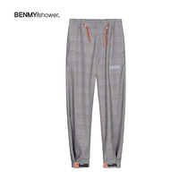 benmyshower country Tide original Tide brand plaid pants men loose sweat pants casual drawstring drawstring pants