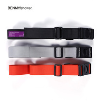 BENMYSHOWER hip-hop Tide brand Tide Retro 3-color ribbon decorative aircraft buckle tactical belt