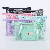 Transparent cosmetic bag multi-function large capacity simple small portable waterproof portable cute Korean travel storage bag